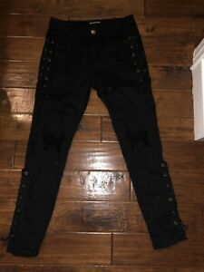 Black fashion nova jeans size 1  stretchy material