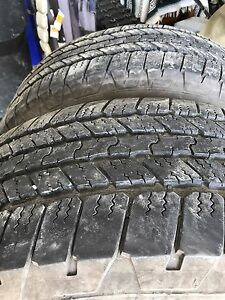 Two Goodyear truck tires