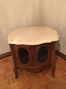Side Coffee Table Marble Top