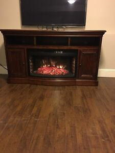 Solid Wood Fireplace and Entertainment Console