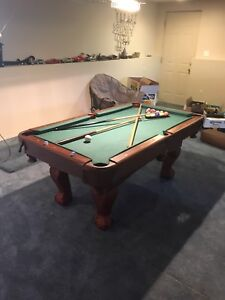 6 by 3.5 foot pool table