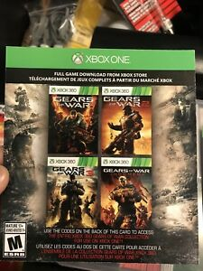 XBOX ONE - Digital Codes for Gears of War Series