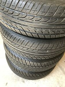 305/65R16 all season tires. 80/90 % very good thread.