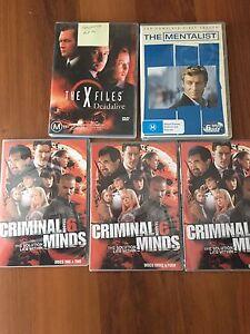 Crime DVD's  Criminal Minds,Mentalist, XFiles Roxburgh Park Hume Area Preview