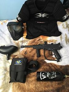 Used paintball starter kit