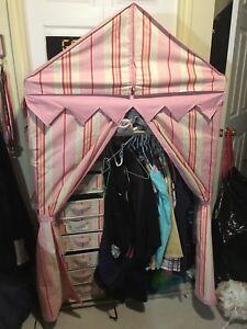Storage closet for girls room