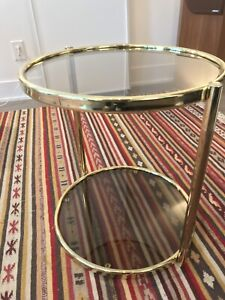 Gold & Glass Mid-Century Modern Floating Table