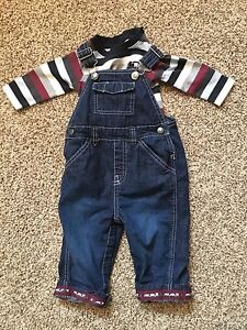 Gymboree 6-12 month size Train Overalls and Onesie