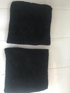 2 x Large Black Floor Cushions Grange Charles Sturt Area Preview