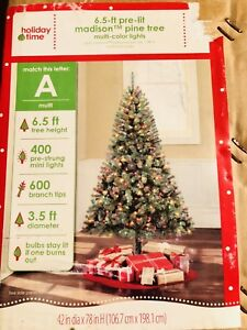 chrismas tree 6.5 ft with 400 mini lights
