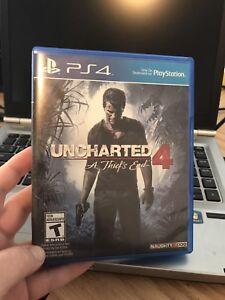 Jeu Uncharted 4 Ps4 30$