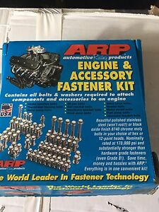 ARP polished stainless fastener set