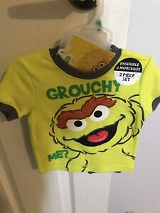 Oscar the Grouch boys outfit for 3-6months