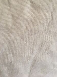 Upholstery Fabric - 8 yards cotton twill in natural cream/beige