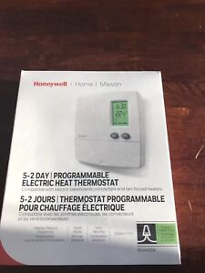 Programmable 5-2 Day Electric Heat Thermostat