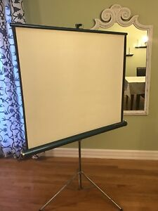 Vintage free-standing screen projector