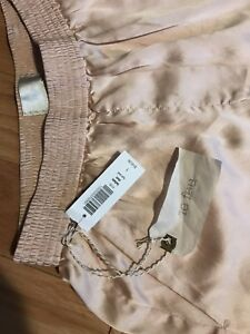New Le Fou Wilfred Satin Rose Gold Shorts - Small