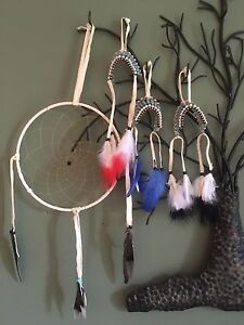 Head dresses and dream catchers all hand made