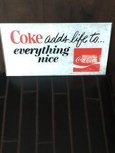 VINTAGE ADVERTISING COCA COLA ADVERTISING SIGN $35