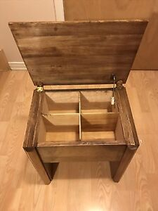 Banc en bois avec rangement