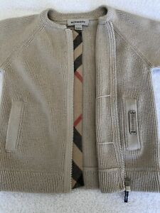 Burberry Toddler Zip Up Sweater size 18m, 86cm