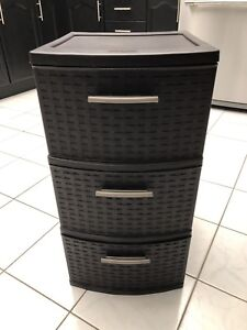 Storage Bins Wicker Dark Brown***LIKE NEW**