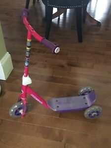 Pink & Purple Scooter for a Little Girl