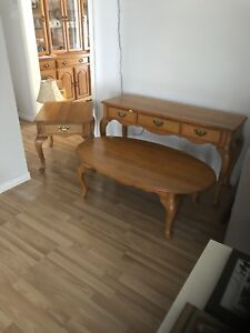 3piece set coffee table end table sofa table