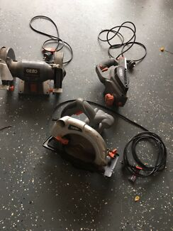 Ozito bench grinder, planer & power saw $20