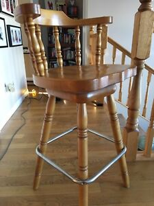 Bar stool assembled and stained with matching in box