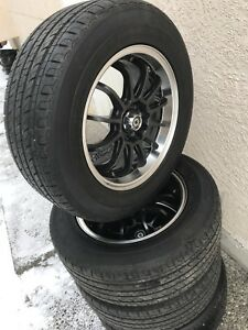 Brand new wheels with tires