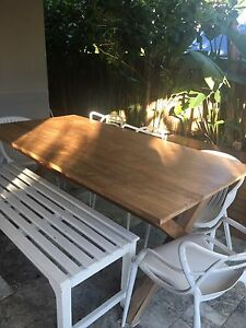 Teak Timber Outdoor Dining Table Varsity Lakes Gold Coast South Preview