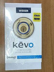 Weiser Kevo Polished Brass Bluetooth Deadbolt