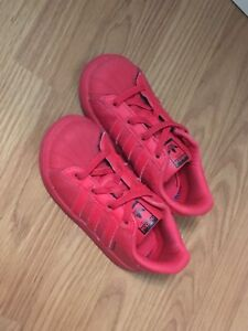 Red Adidas size 9 toddler