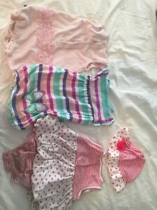 6-9 month summer rompers