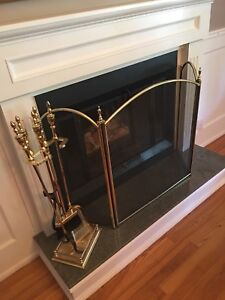 Antiron and fireplace screen