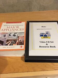 Appliance repair training book and dvds