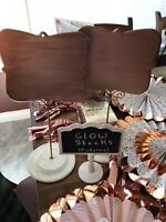 Signs-party- wedding rose gold. $5