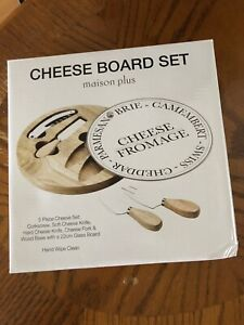 Cheese board set: NEW + never used