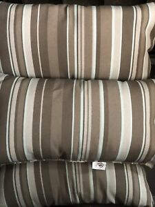 Outdoor Striped Accent Pillows by Hampton Bay