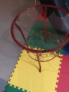 2 glass table