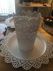 IKEA skurar candle dishes (x4)  and one large candle holder
