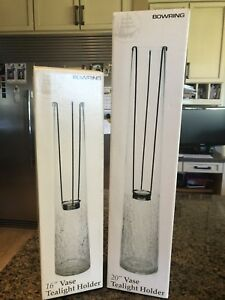 Tea light Candleholders (16' and 20' set of two)