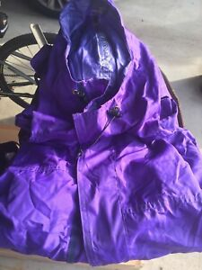MEC long purple rain coat Men's size Medium
