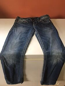 """Womans Silver tuesday 16 1/2"""",size 25/length 31!!"""