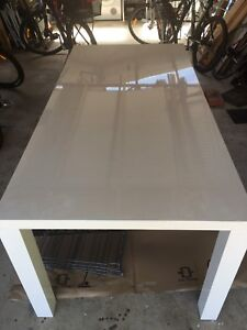 Large glossy white table