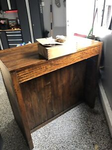 Bar with wine rack and drawers
