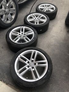 """18"""" OEM Audi A4/S4 wheels with 245-40-18 Pirelli P7 tires"""