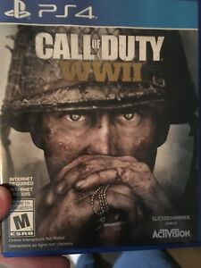 PS4 COD WW2 mint condition $50