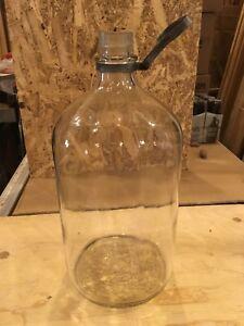 Réservoir d'huile en verre 2 gallons Antique